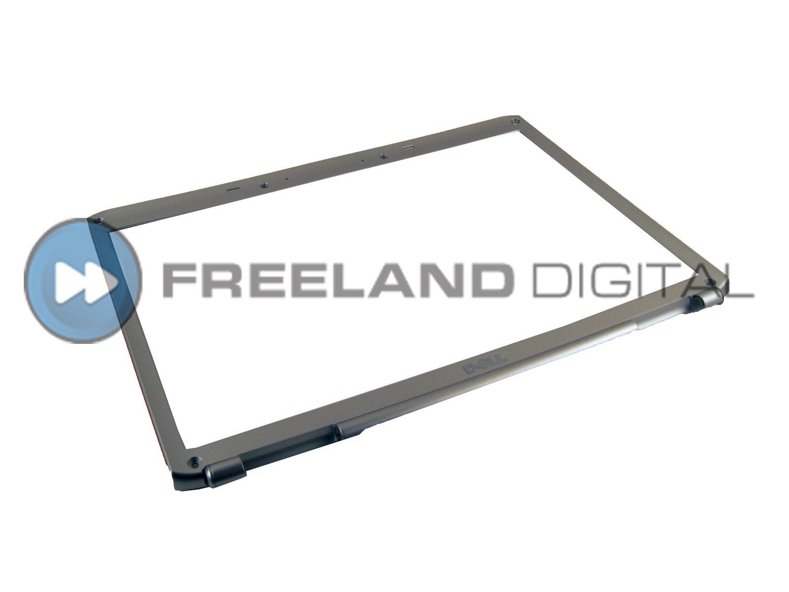 "NEW FP637 Dell Inspiron 1720 1721 17"" LCD Front Bezel (Silver + Red Trim)"