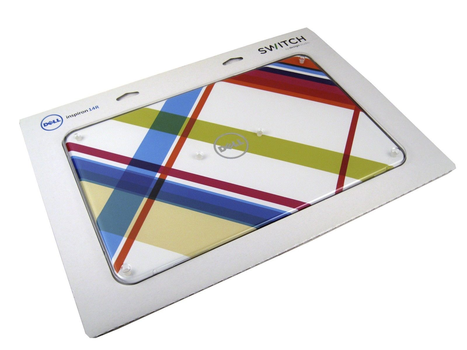 """New Dell 1XTMF Inspiron 14R N4110 14"""" Switchable LCD Back Cover (Plaid Design)"""