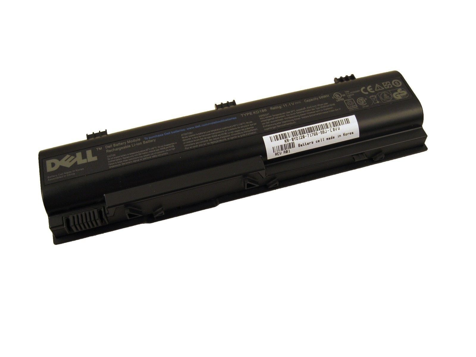 Dell YD120 Genuine Inspiron 1300 B120 Latitdue 120L 53Wh 6Cell Laptop Battery