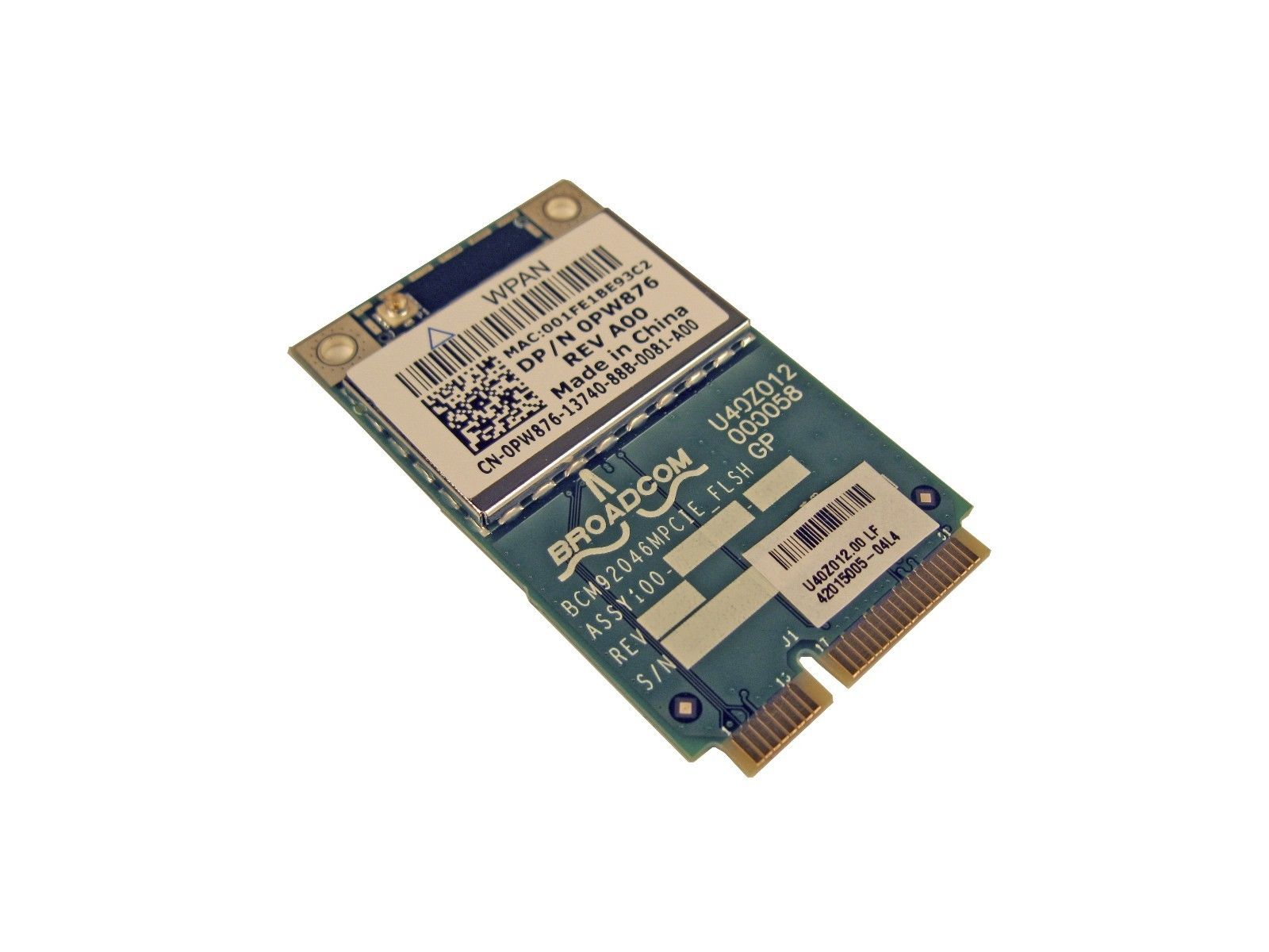 Dell PW876 Studio 1735 PCI-e 370 Wireless Bluetooth Card