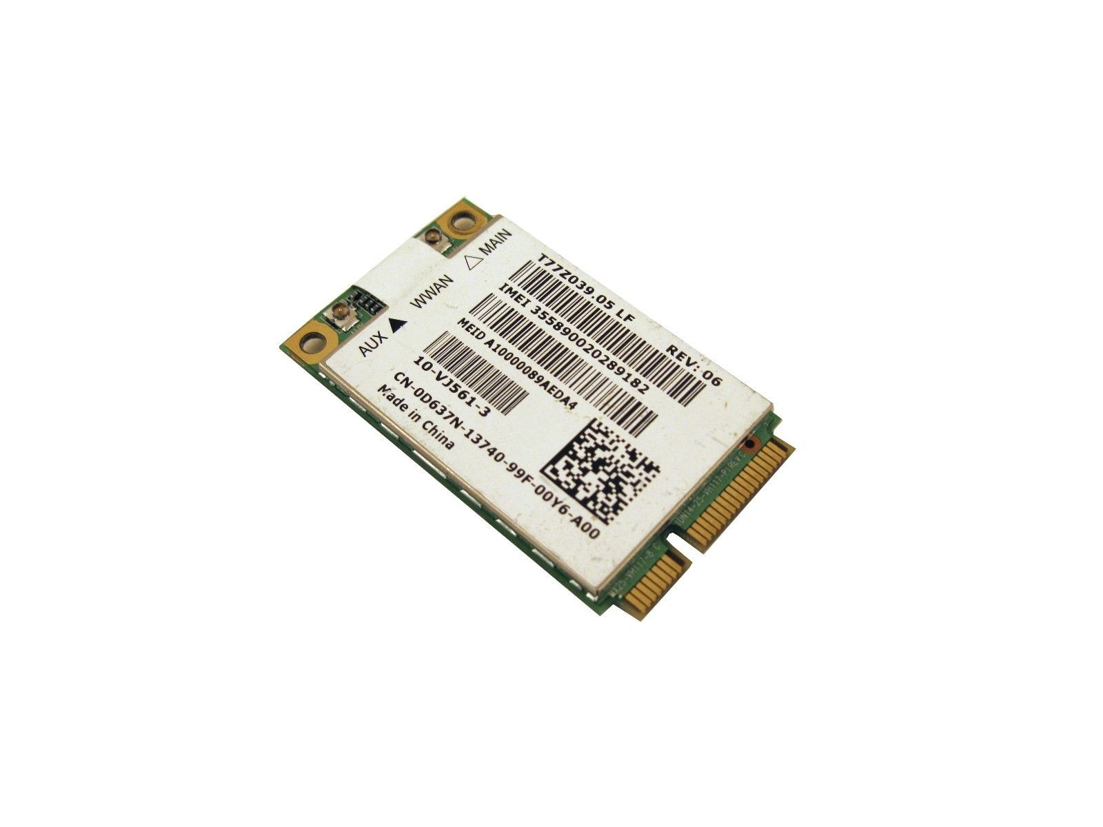 Dell D637N Mini PCI Express WWAN Cell Mobile 5600 Wireless Card