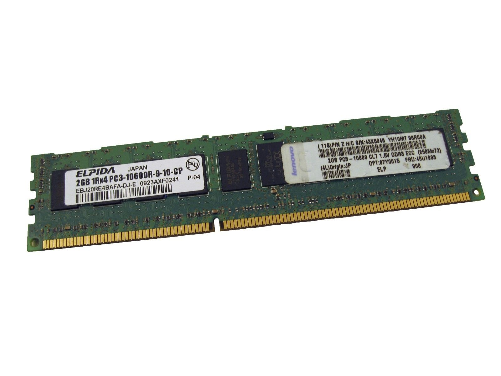 Elpida EBJ20RE4BAFA-DJ 2GB DDR3 PC3-10600 1Rx4 Server Memory