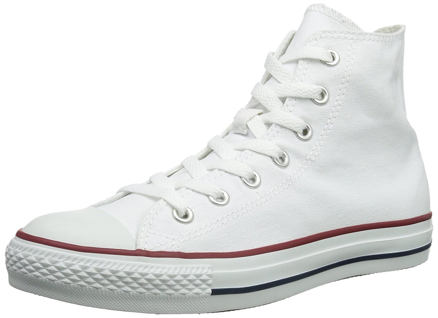 f91a5fd3e6e3 Converse Unisex Chuck Taylor All Star High Top Optical White M7650 ...