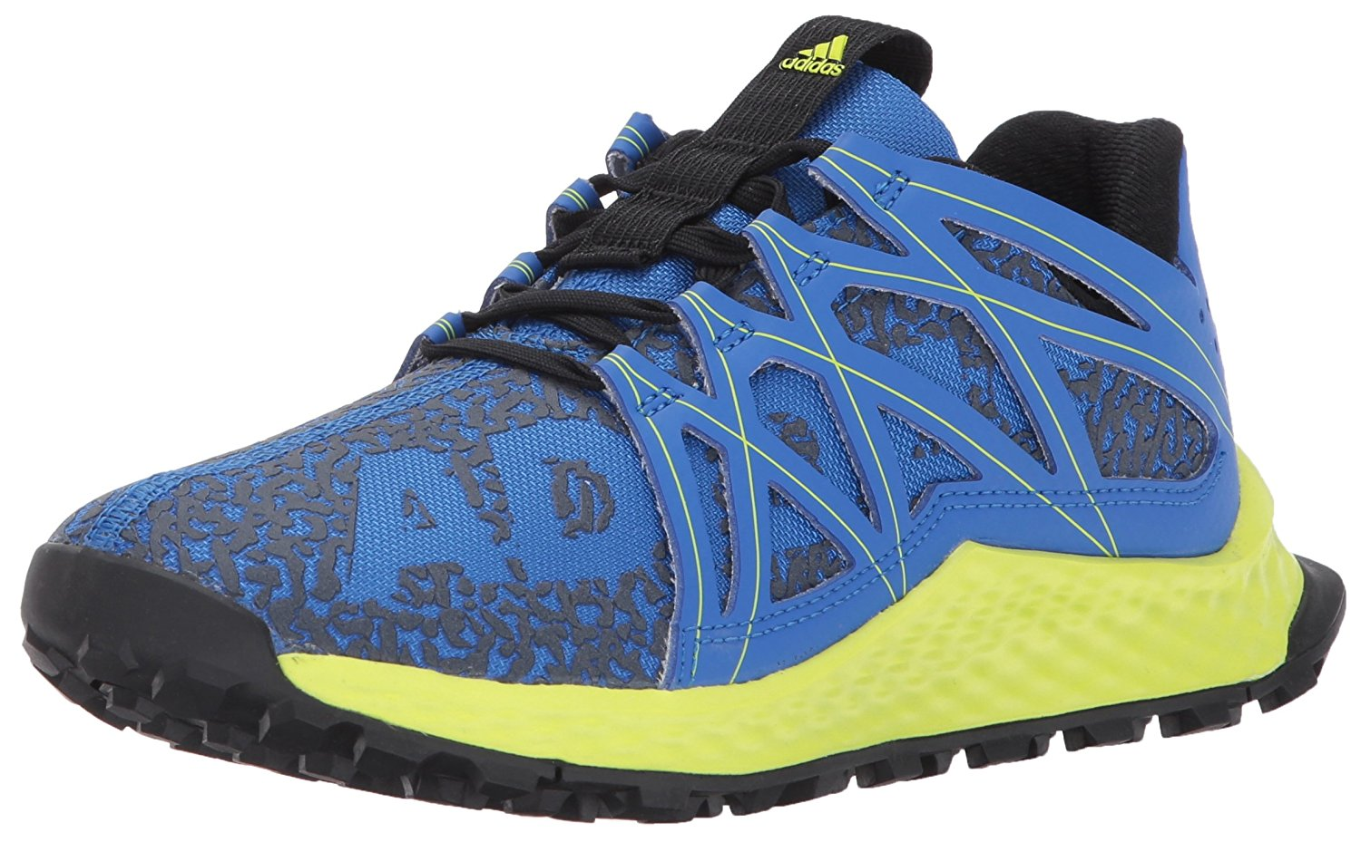 6450127ad68e7 adidas Big Kids Vigor Bounce Trail Runner Shoe Blue Grey Solar ...