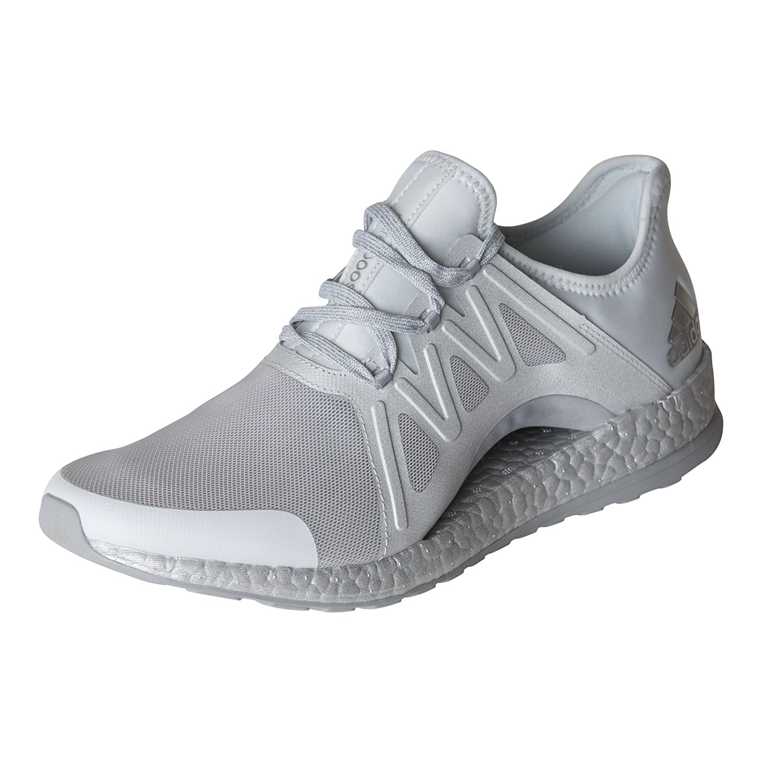 d84c69baa2ab7 Details about adidas Womens PureBOOST Xpose Running Shoe Clear Grey White Mid  Grey S82066
