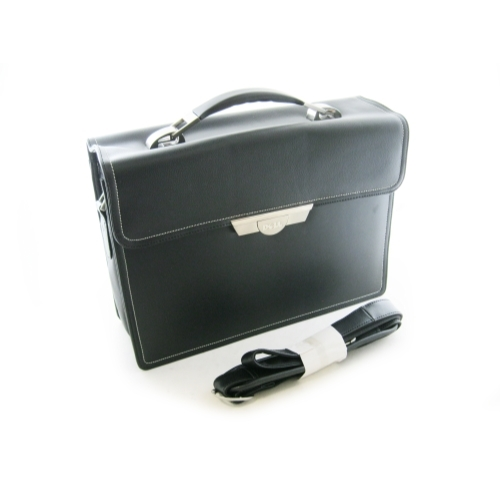 """Dell NH029 Embroidered 15.4"""" Leather Laptop Protective Carrying Case"""