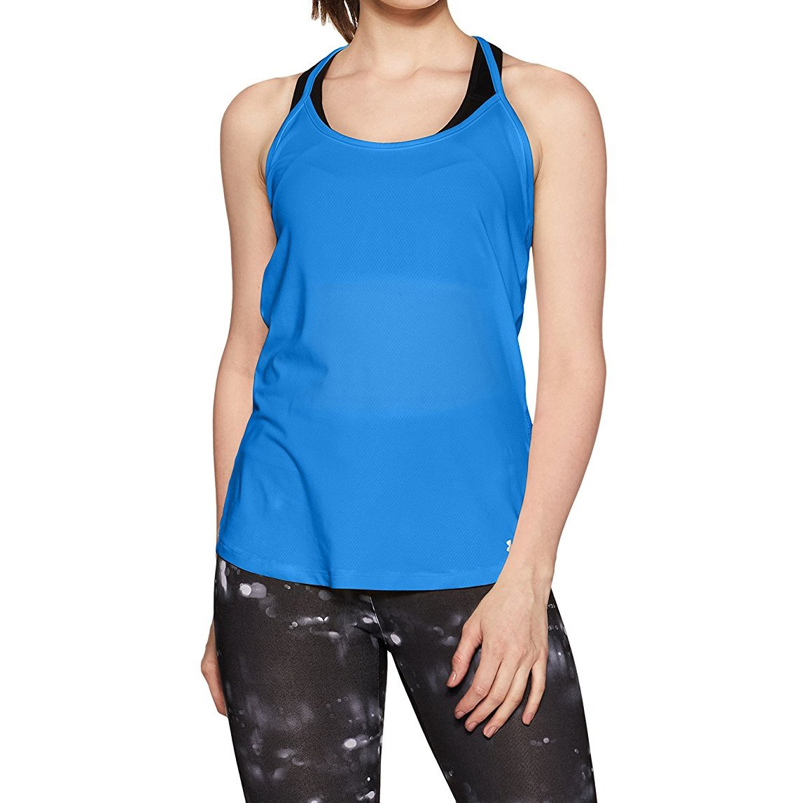 6ce855c35e8bb Details about Under Armour Womens Fly-By Racerback Top  Mediterranean Reflective