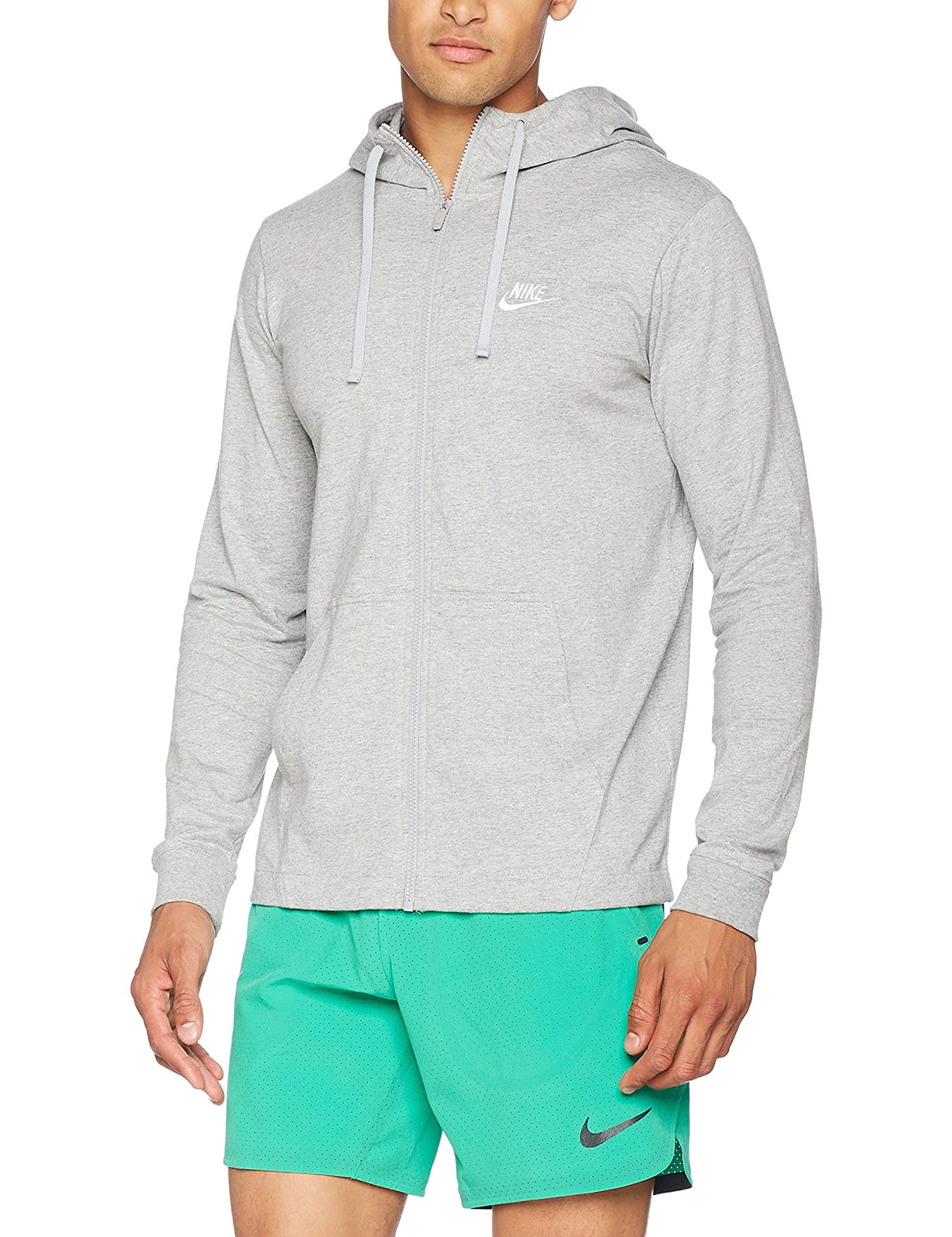 12b0a25086dc8 Nike Mens Sportswear Jersey Club Full-Zip Hoodie. Item Description. Brand:  Nike. Condition: New with tags. Color: DK Grey Heather/White