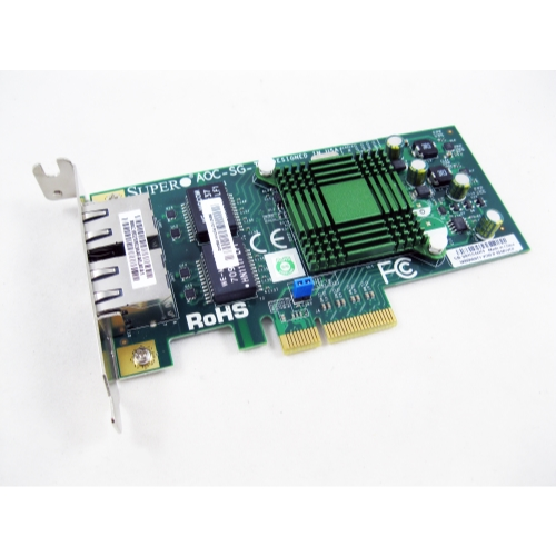 SuperMicro AOC-SG-i2 Dual Port PCIe GB Ethernet Network Adapter Card NIC LOT OF 6