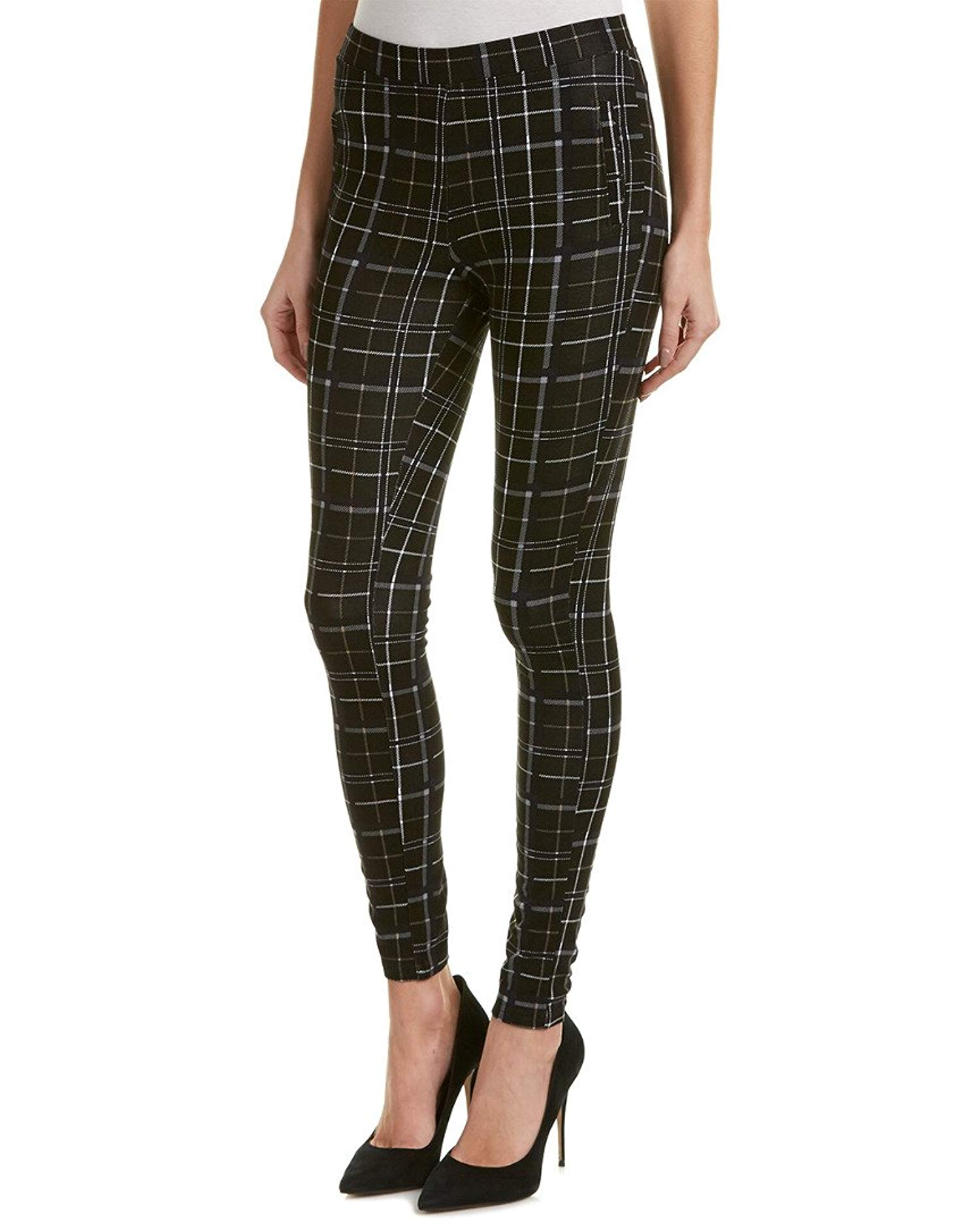 387a2b64b08cfc Hue Womens Summer Plaid Loafer Skimmer Leggings Black Size Small ...
