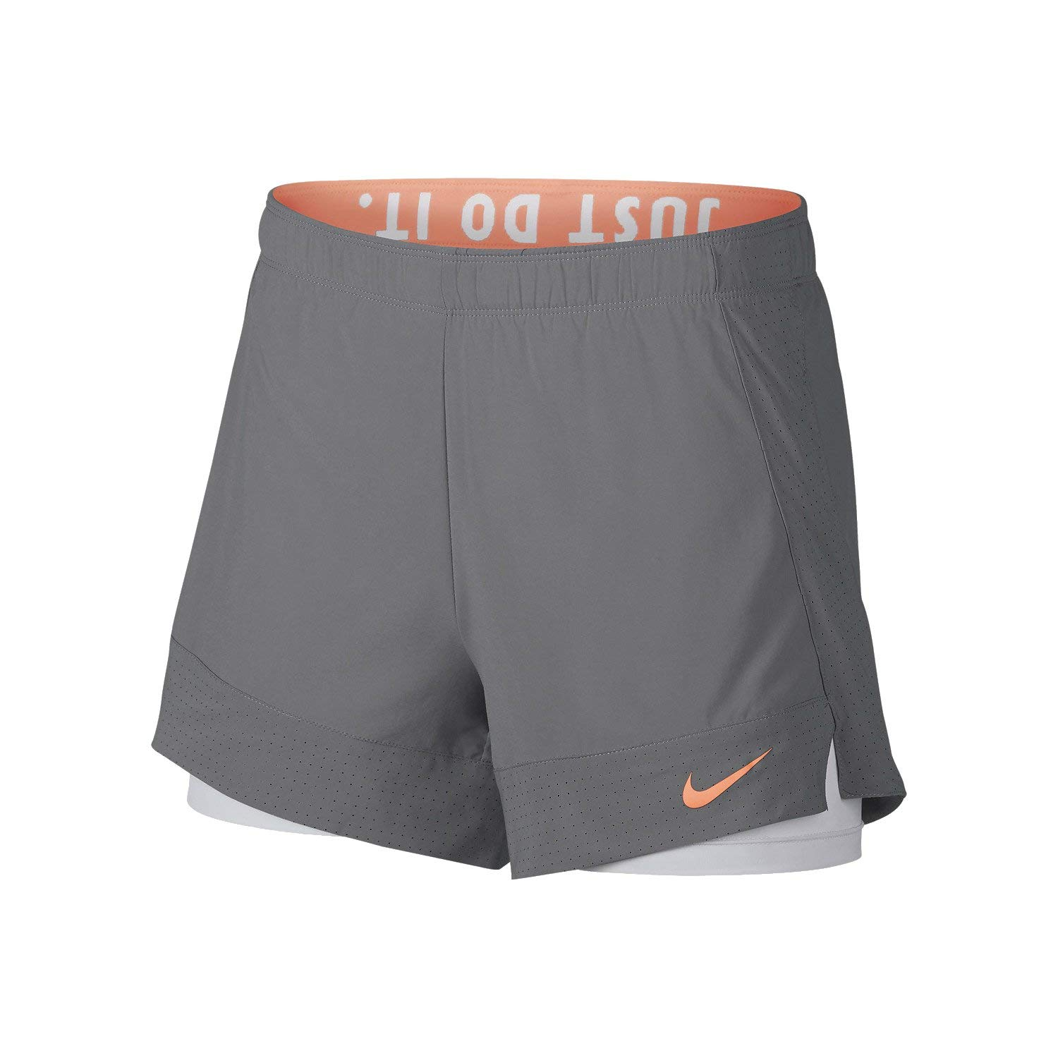 Details about Nike Womens Flex 2-In-1 Training Short Grey White 891939-027 5fa4d9b935a26