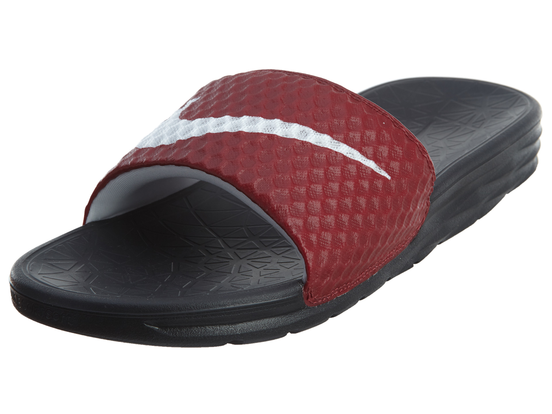 more photos 7df5d 7c4d4 Nike Mens Benassi Solarsoft Slide Sandals