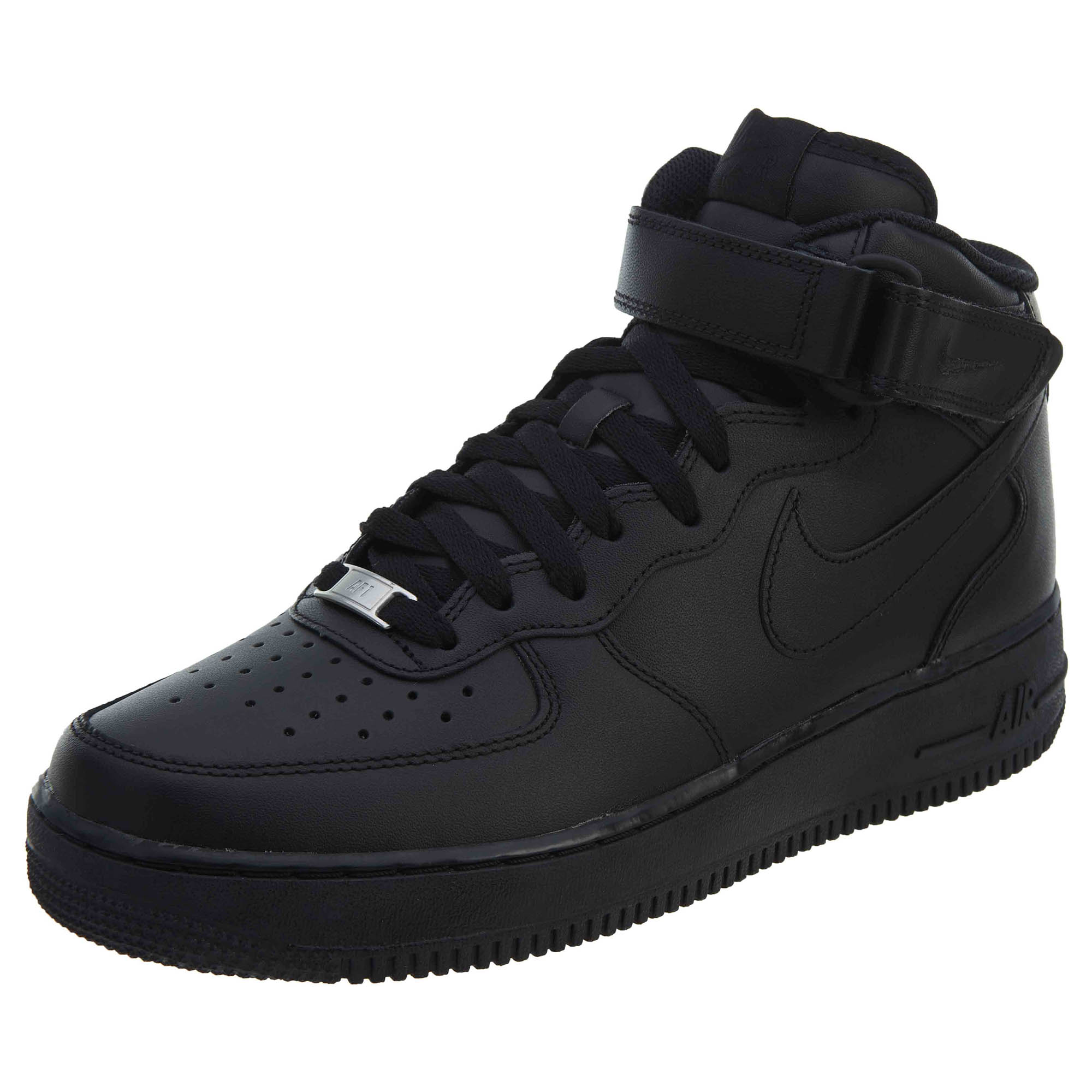 Details about Nike Men s Air Force 1 Mid Shoes Black Black 315123-001 b7380a429