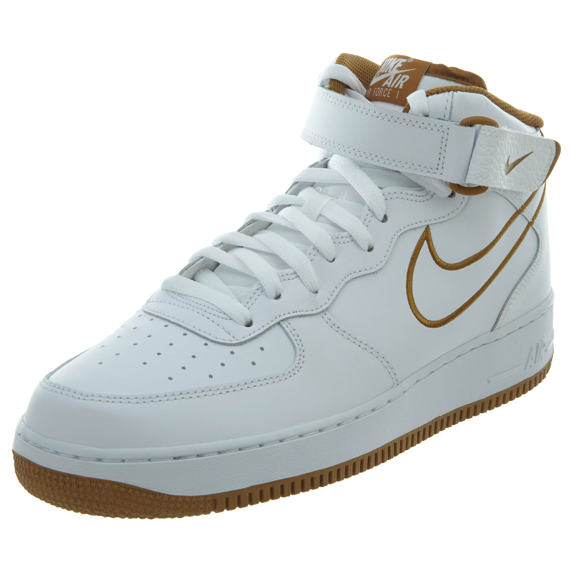 wholesale dealer 35305 6e6e5 Details about Nike Mens Air Force 1 Mid  07 Leather Running Shoes AQ8650-101