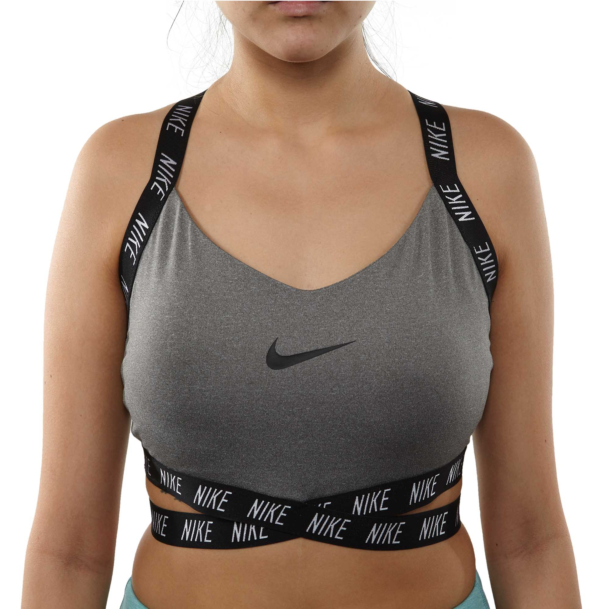 9ae3cce090090 Details about Nike Womens Dri-fit Indy Logo Sports Bras AQ0918-091