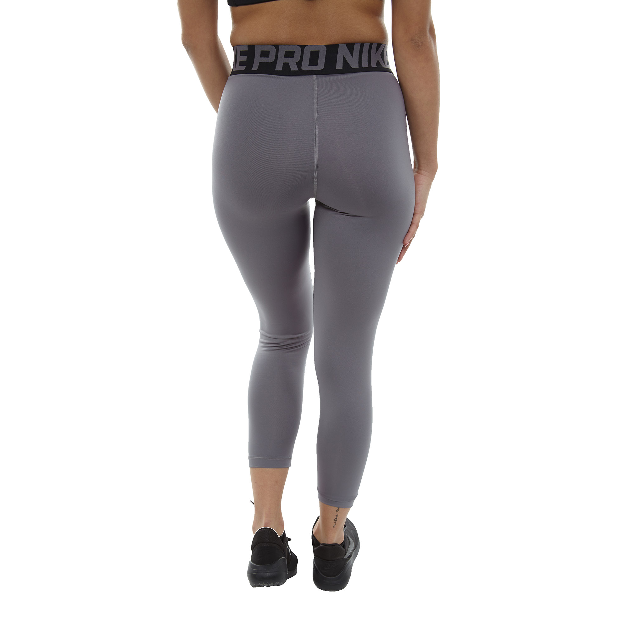 9a697d741 Nike Womens Pro Crossover Waistband Ankle Leggings AJ3927-036
