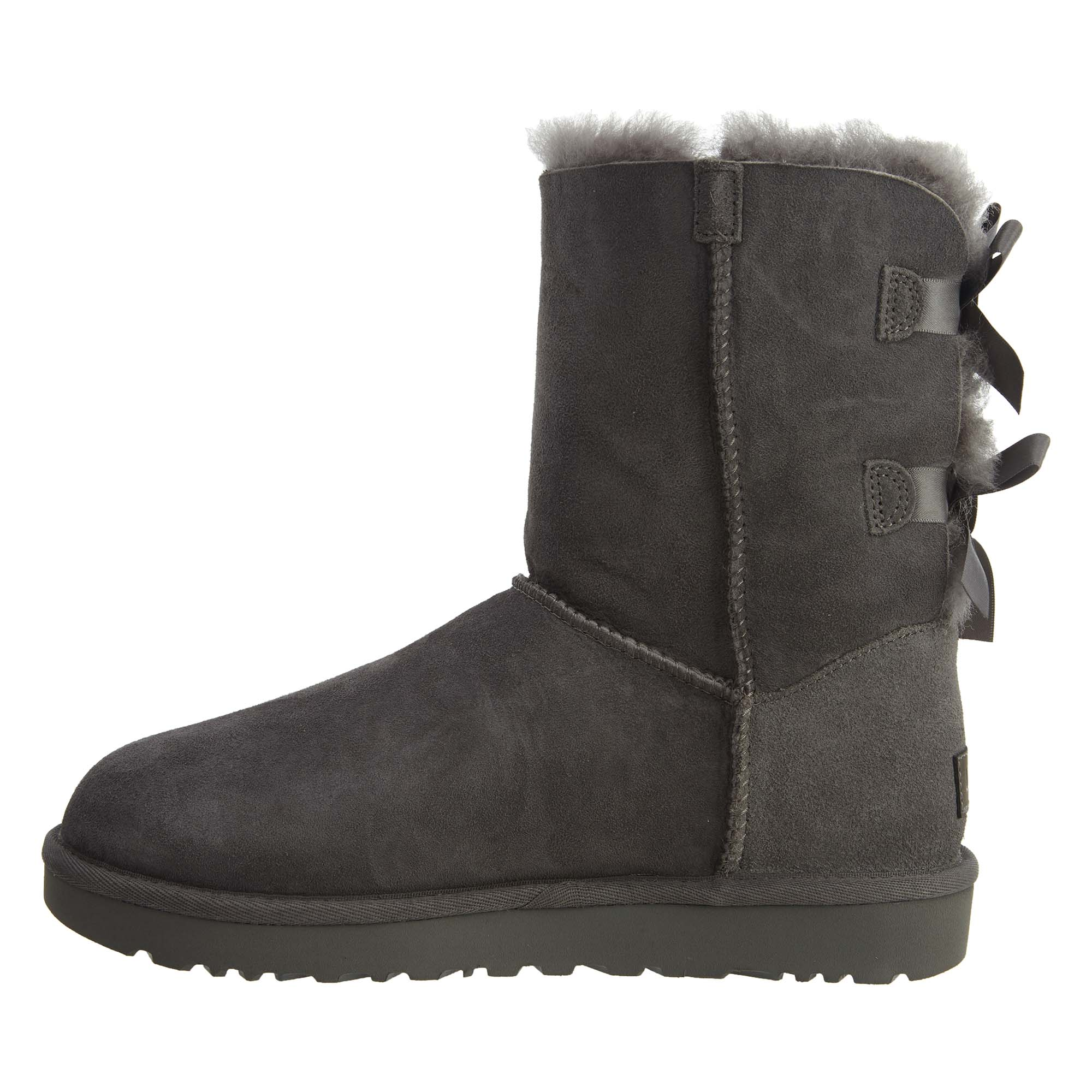 a6db54bee8 Details about UGG Womens Bailey Bow II Boots Grey 1016225