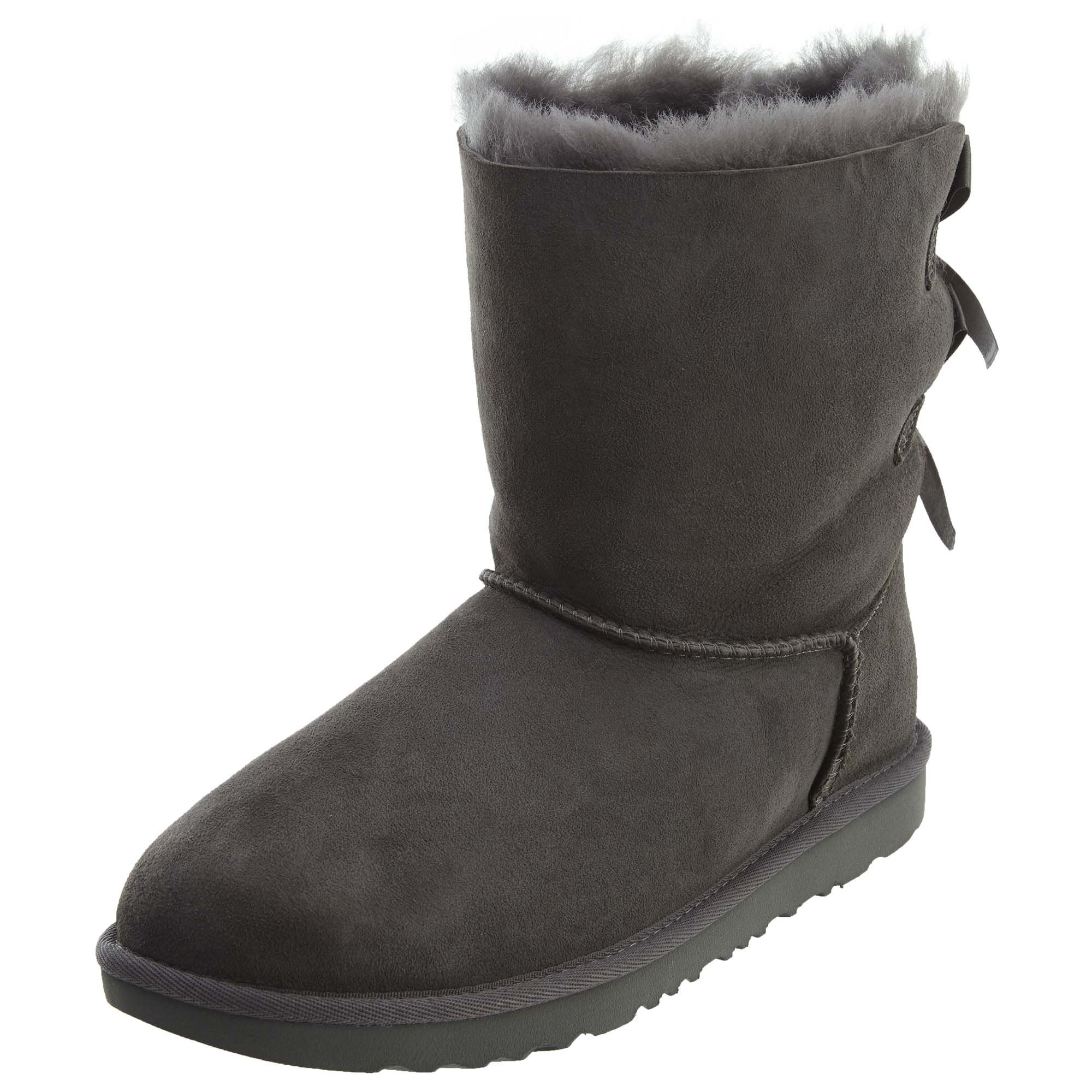 3cced3174af Details about UGG Big Kids Girls Bailey Bow II Boots Grey 1017394Y