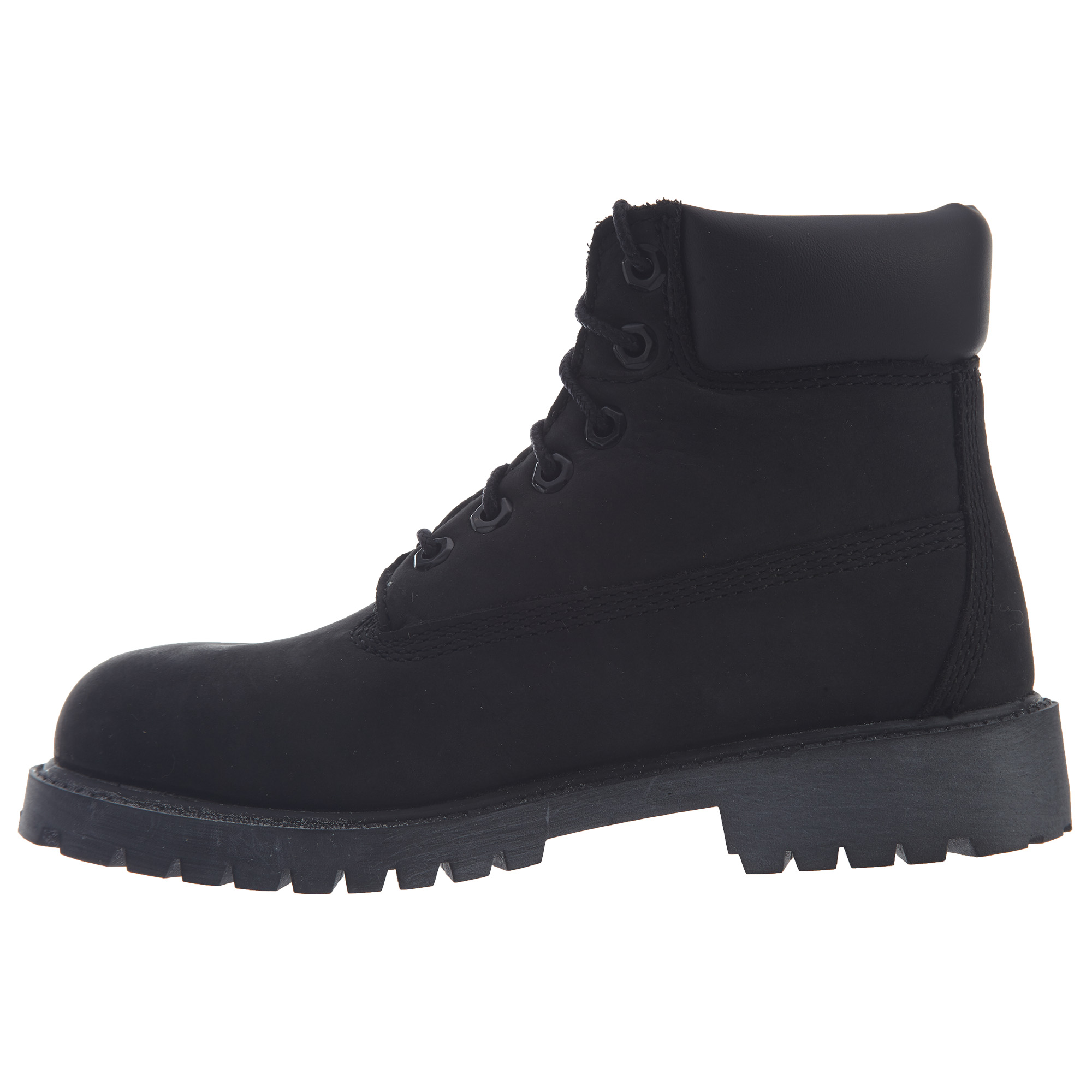 Timberland 6-inch Premium Waterproof Boot Youth Nubuck Black 12707 Kids' Clothing, Shoes & Accs Kids' Clothing, Shoes & Accs