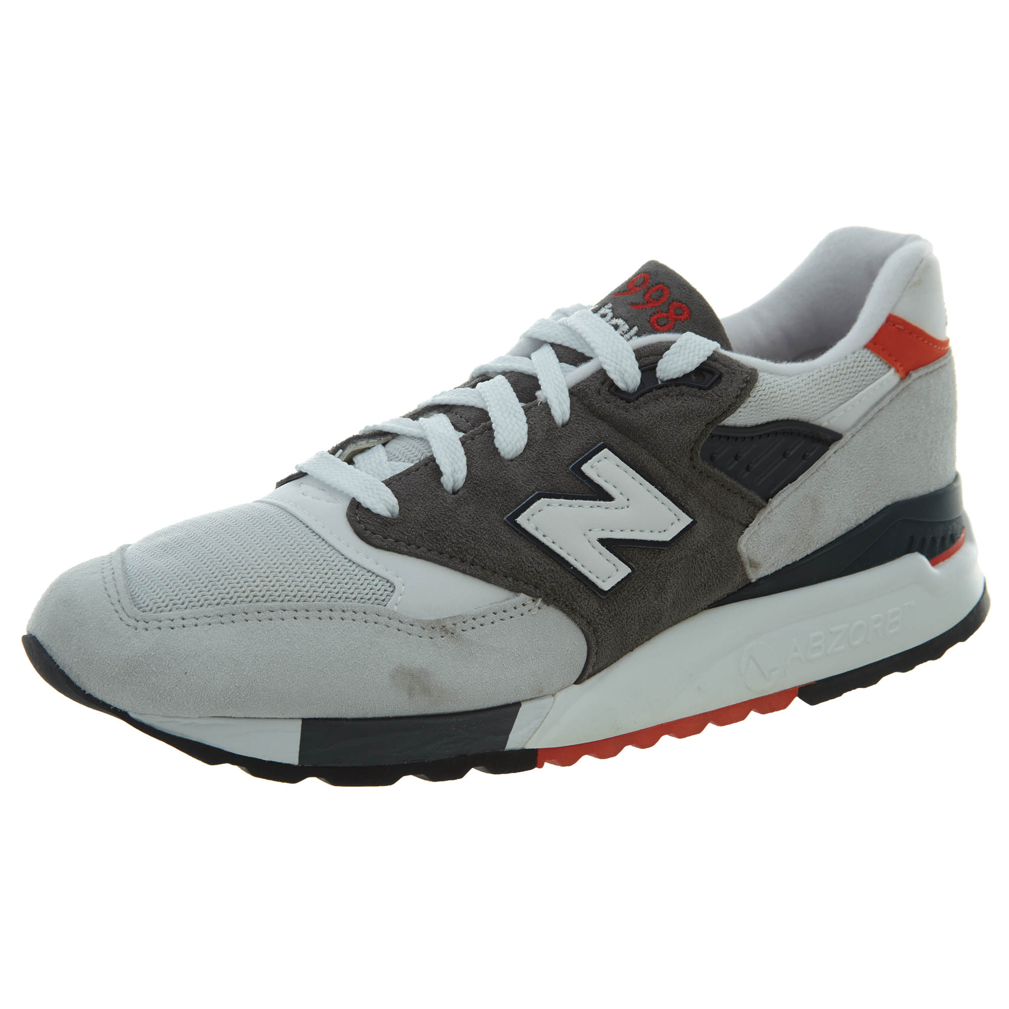 48fbe34f1b Details about New Balance Mens 998 Classic Running Shoes Light Grey/Black  M998-CREA