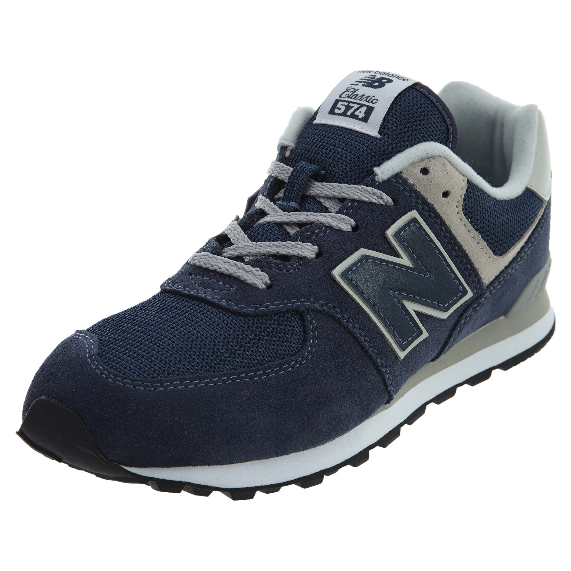 Details about New Balance Big Kids 574 Life Style Running Shoes Navy Grey  GC574-GV f67ebc690