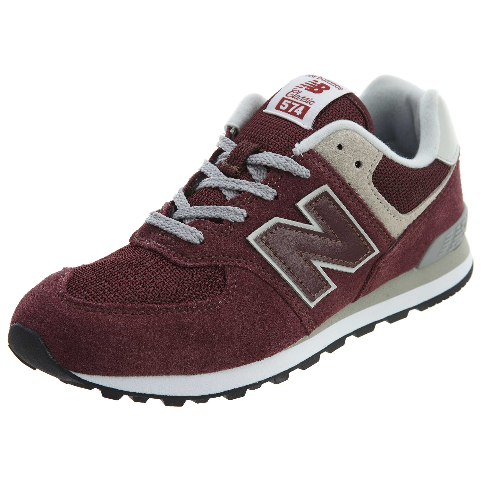 69bc2aa88e4 Details about New Balance Big Kids 574 Life Style Shoes Burgundy White GC574 -GB