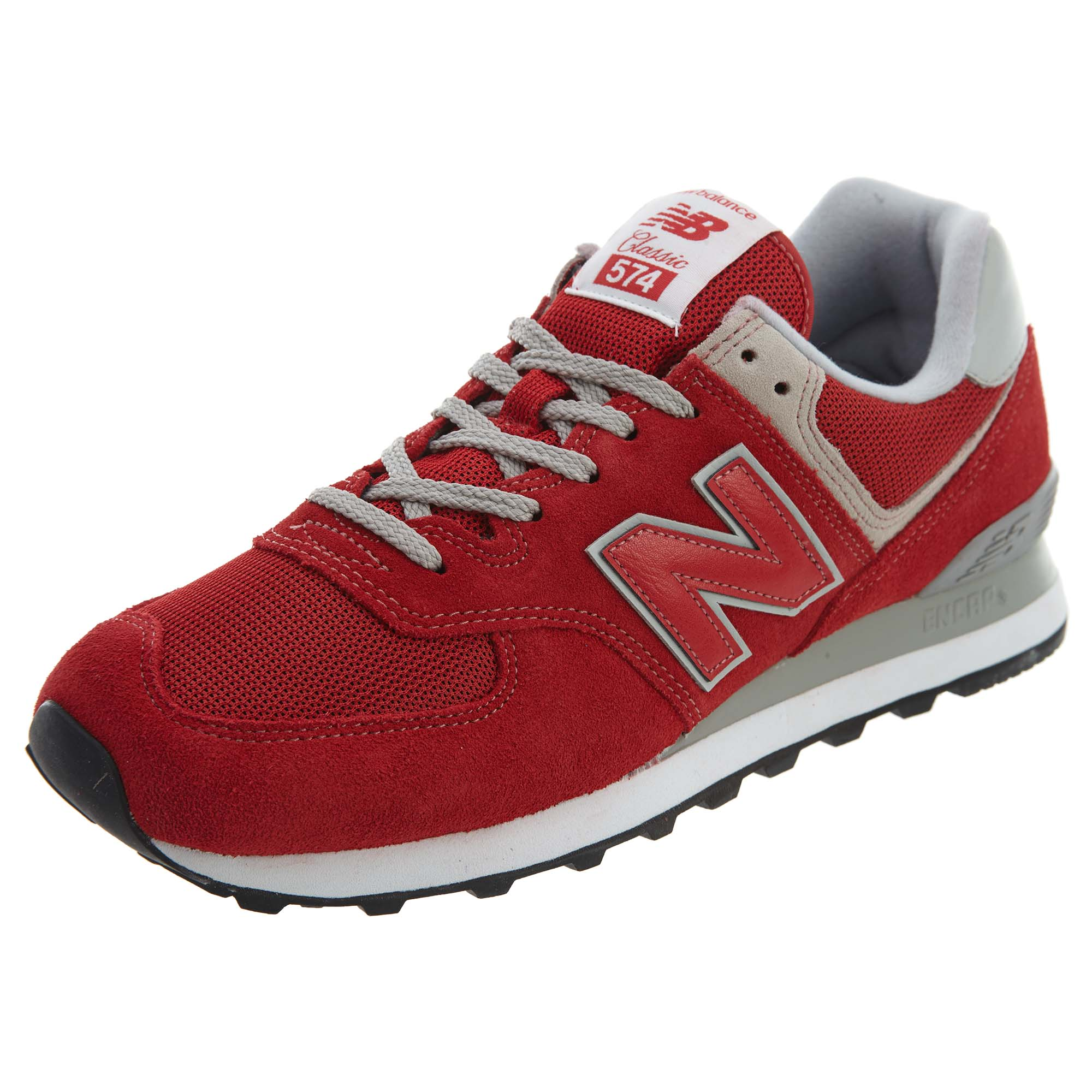 Details about New Balance Mens 574 Classic Running Shoes Red Silver ML574 -ERD ce480b0c0e