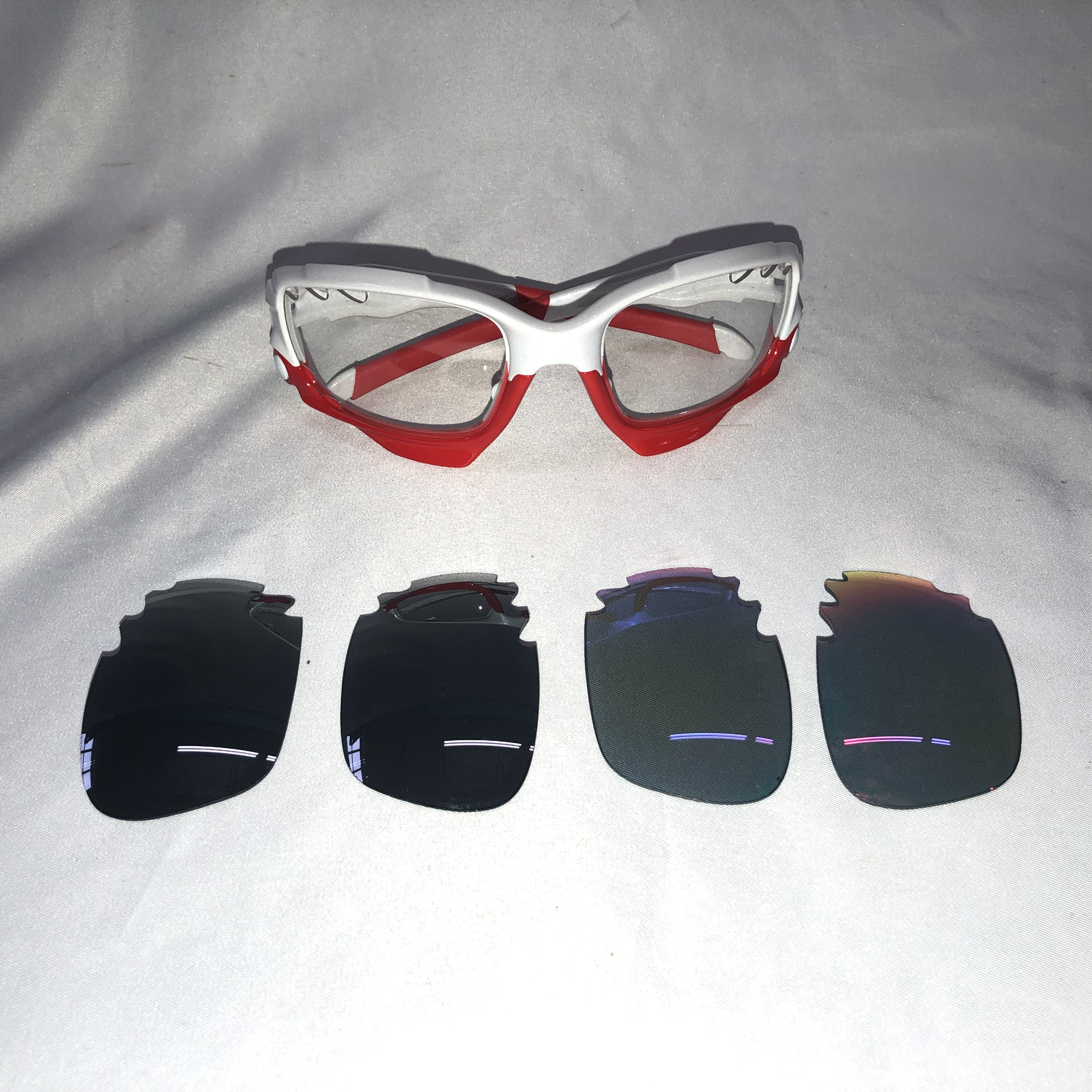a0117d63d511e Details about Oakley Jawbone Sunglasses Red White w  Extra Lenses
