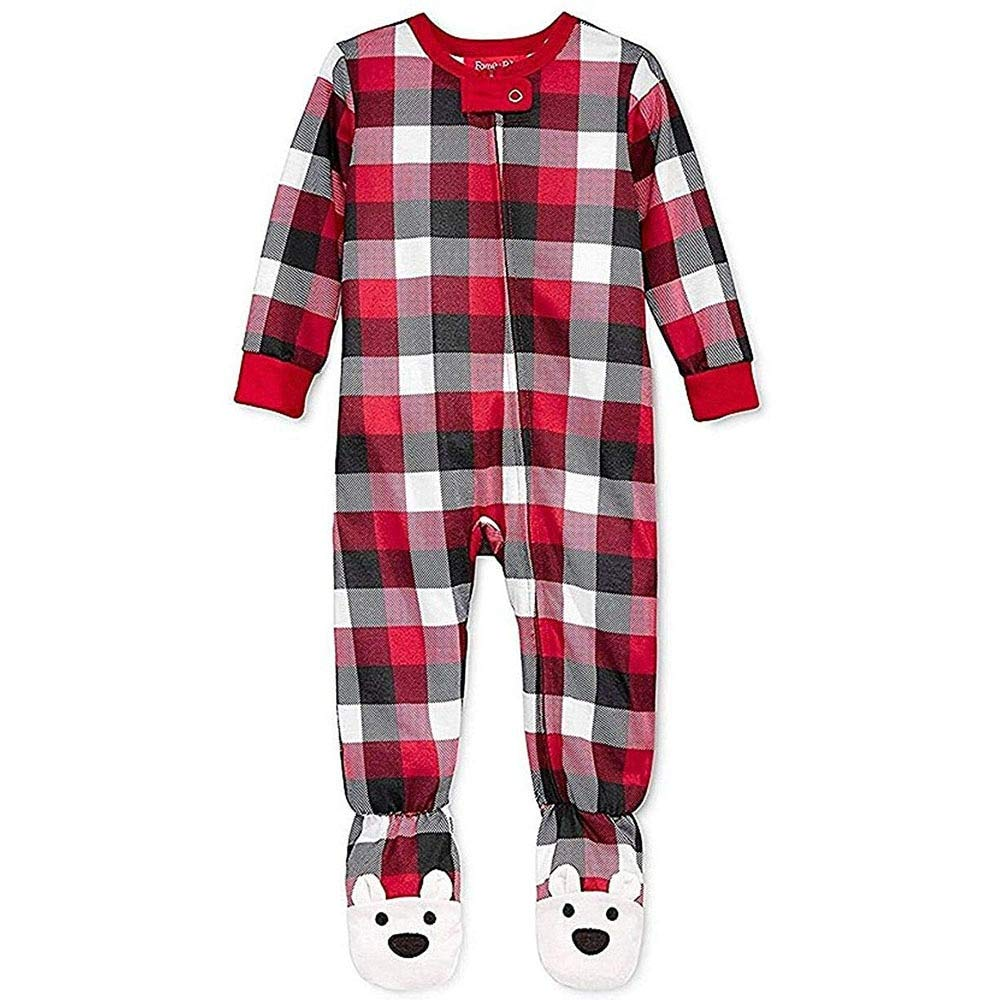 Family Pajamas Toddlers Holiday Footed Pajamas Buffalo ...